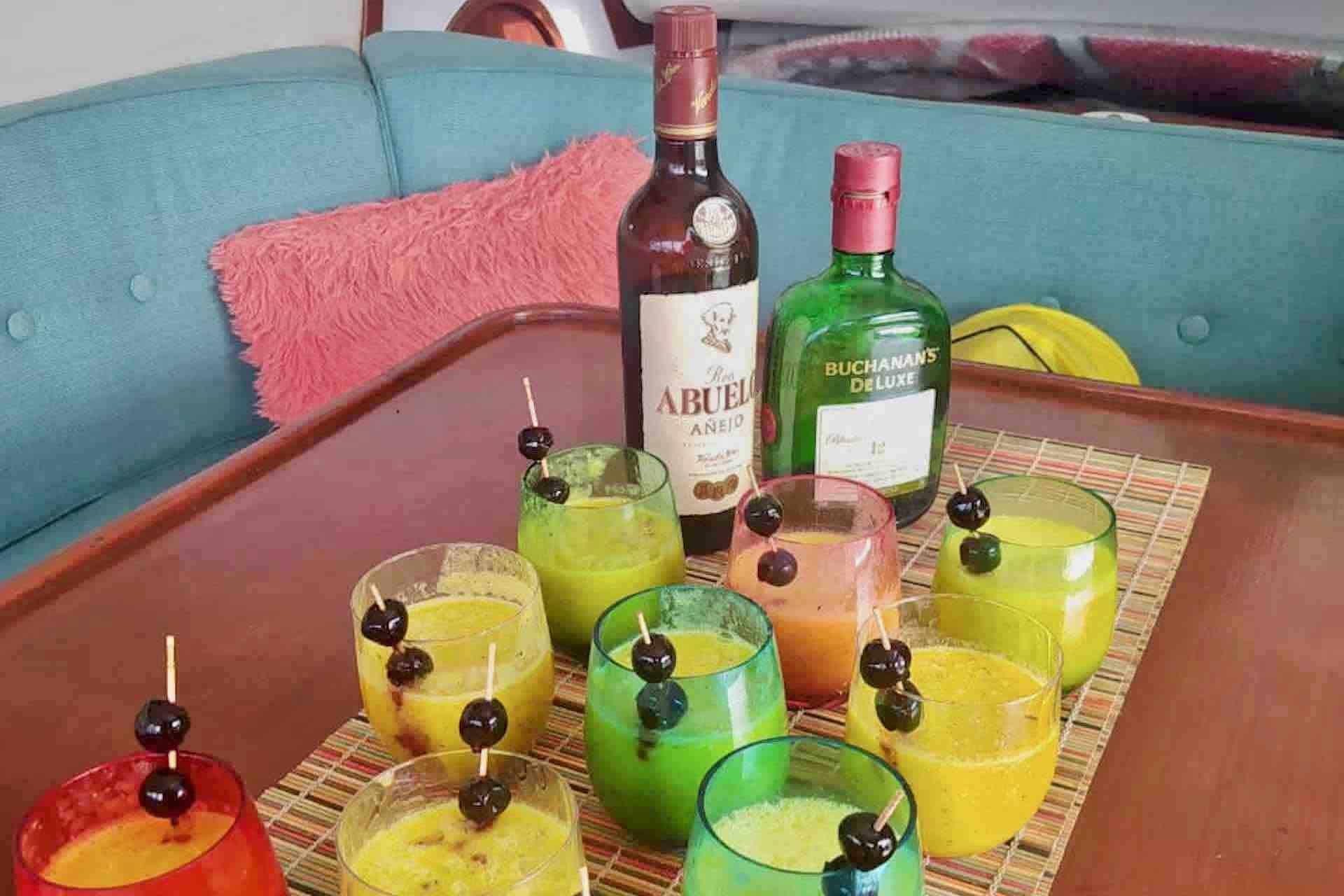 Panama Caribbean tour welcome cocktails