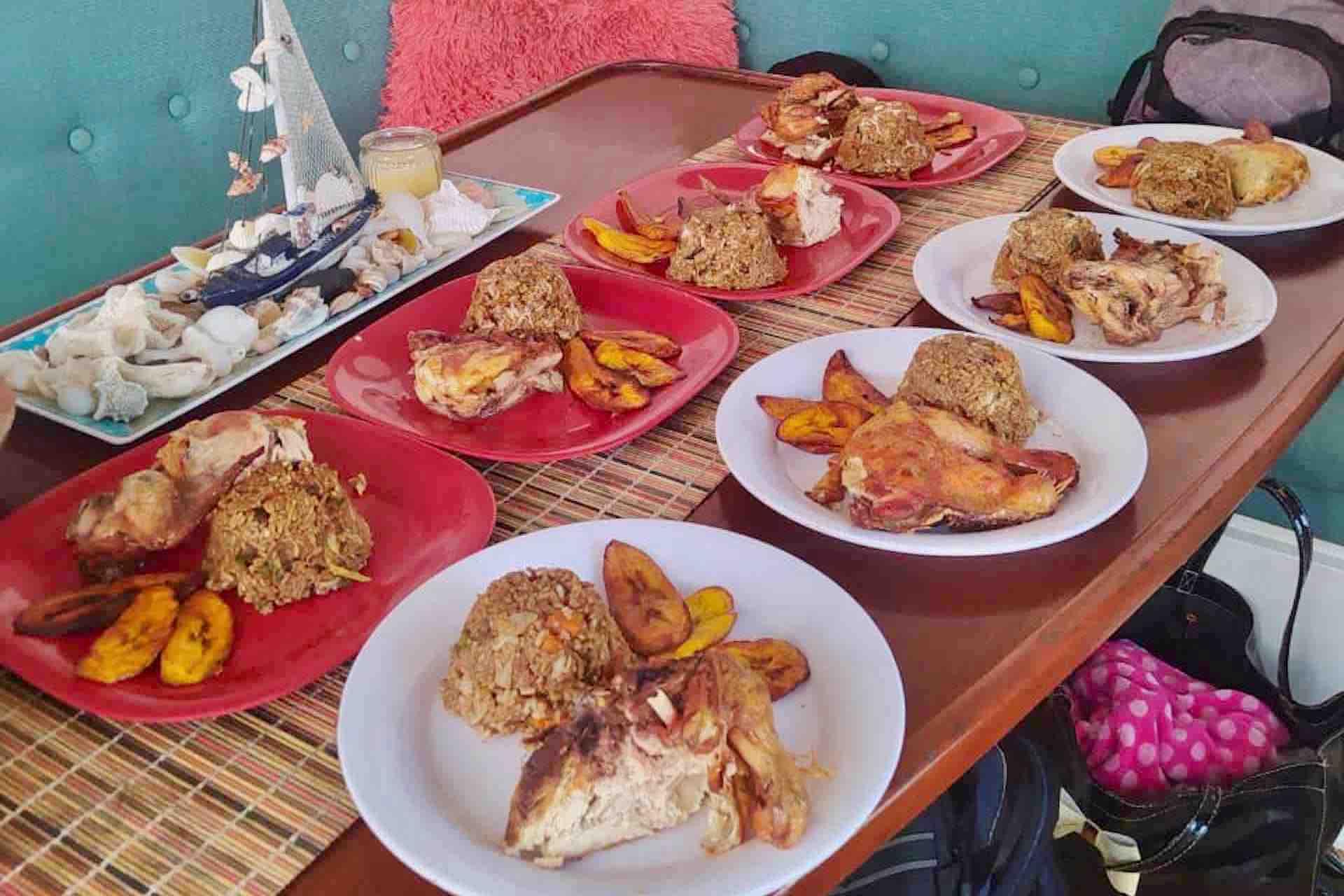 Panama Caribbean tour lunch freshly prepared