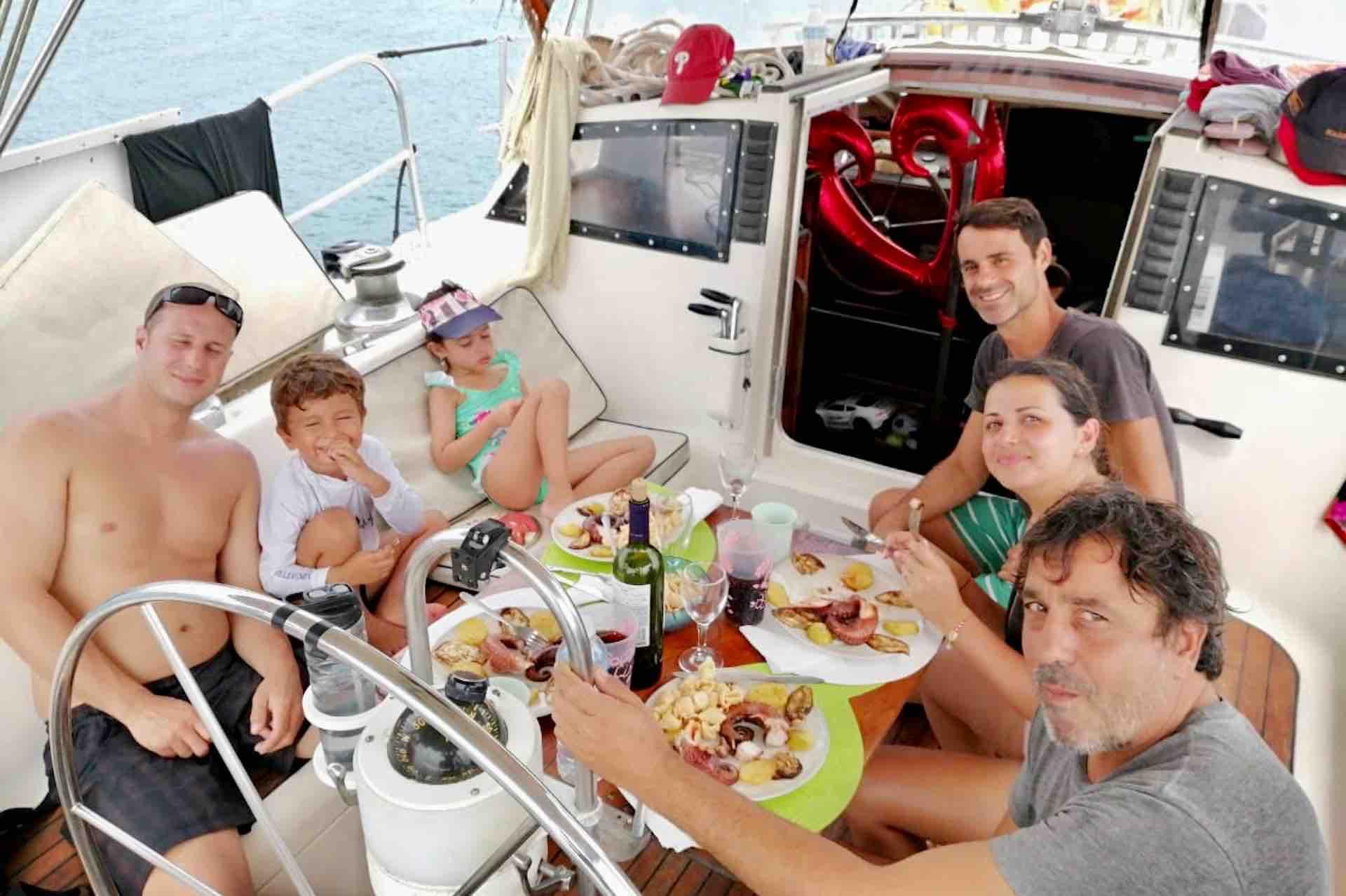 lunch on san blas sailboat