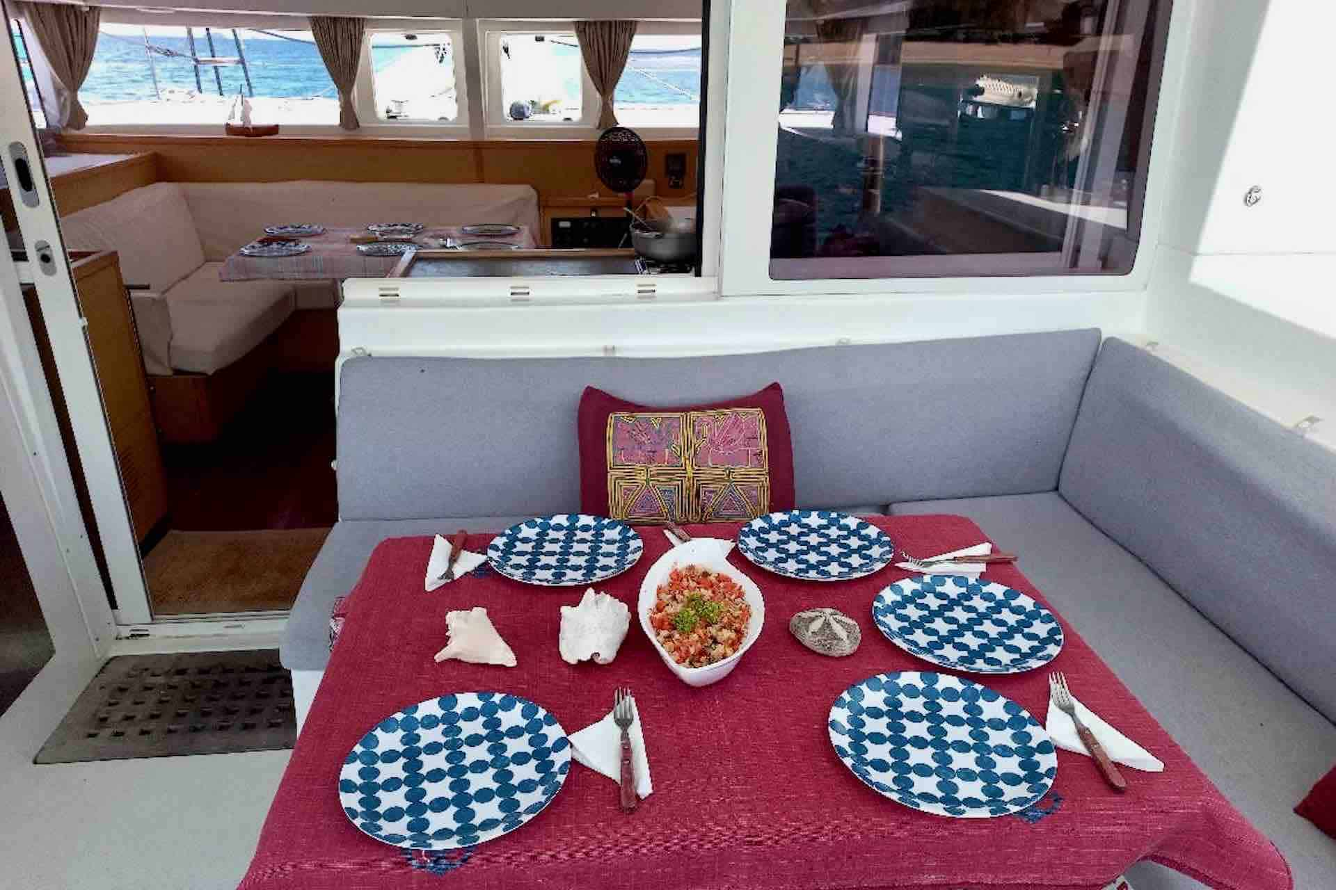 Catamaran Cockpit