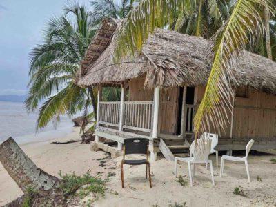 San Blas Isla Perro private cabin outside