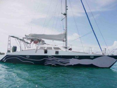 Catamaran in San Blas 2