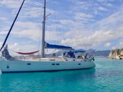 Mola Mola San Blas sailboat from outside